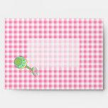 Pink Baby Gingham Envelope