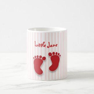 pink baby girl - baby shower favor coffee mug