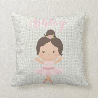 Pink Baby Girl Ballerina Ballet Toe Shoes Dancer Throw Pillow