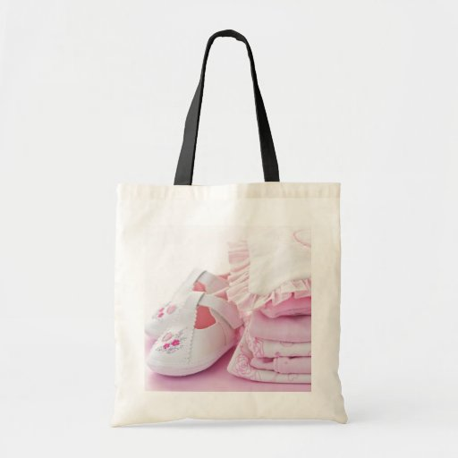 pink baby girl clothes for baby shower tote bag zazzle