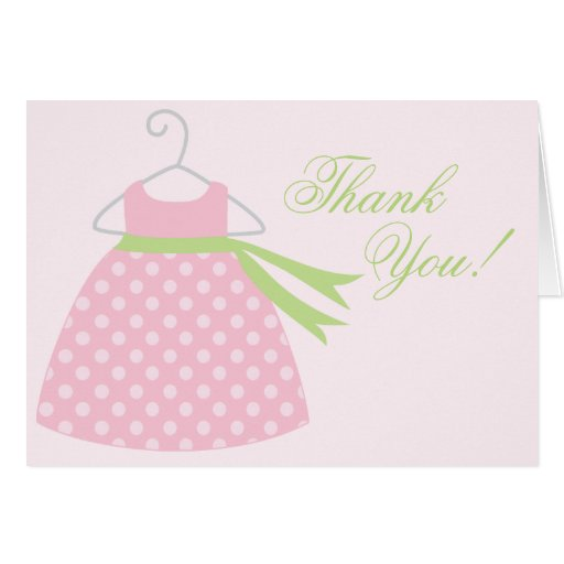 pink baby girl dress baby shower stationery note card zazzle