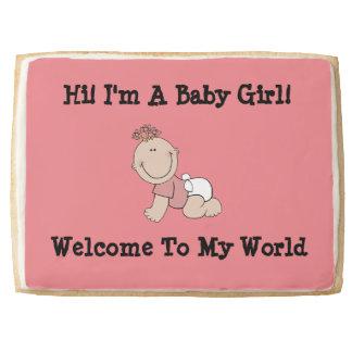 Pink Baby Girl Jumbo Short Bread Cookie