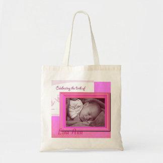 Pink Baby Girl Photo Tote Bag