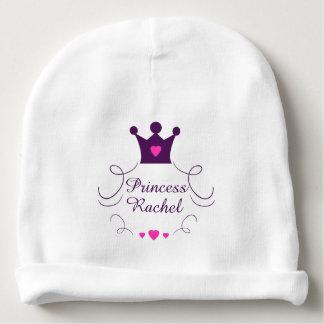 Pink Baby Girl Princess Crown Tiara Royalty Hearts Baby Beanie