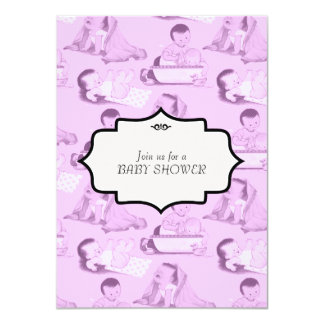 Pink Baby Girl Shower Card