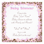 Pink Baby Girl Shower invitations Baby Shower