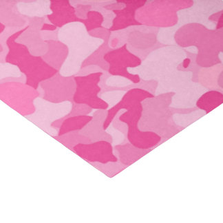 Pink baby girl's camo pattern tissue paper