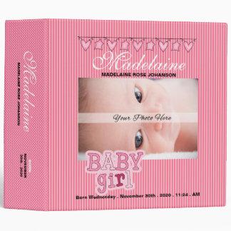 Pink Baby Girl's Custom Photo Scrapbook Binders