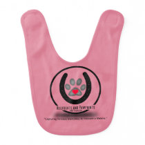 Pink Baby Hoofbeats and Pawprints Bib