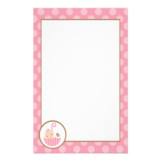 Pink Baby in Umbrella Stationery