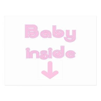 Pink Baby Inside Postcard