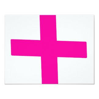 "Pink Baby 4.25"" X 5.5"" Invitation Card"