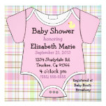 Pink Baby Outfit-Shower Custom Invitations
