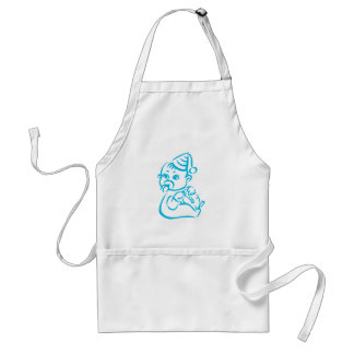 Pink baby outline adult apron