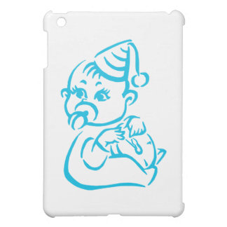 Pink baby outline iPad mini cases