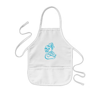 Pink baby outline kids' apron