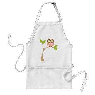 Pink Baby Owl Apron