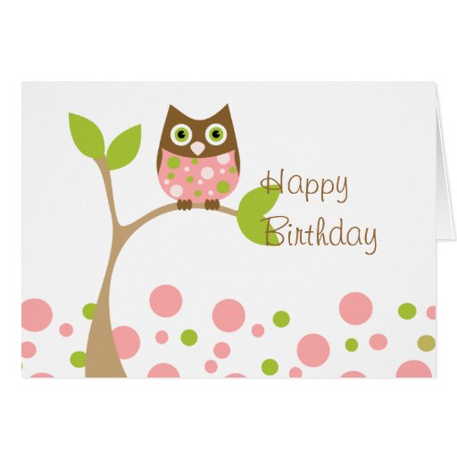 Pink Baby Owl Cards
