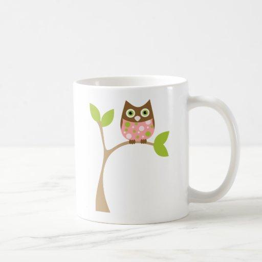 Pink Baby Owl Classic White Coffee Mug