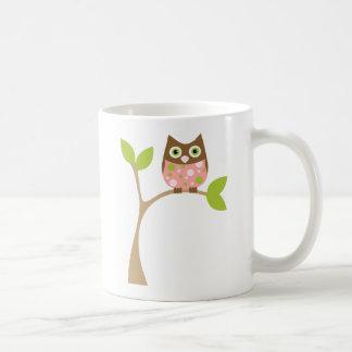 Pink Baby Owl Coffee Mug