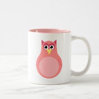Pink Baby Owl Mugs