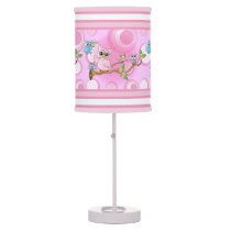 Pink Baby Owl | Nursery Theme Desk Lamp