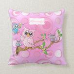 Pink Baby Owl | Nursery Theme Pillow