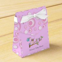 Pink Baby Owl | Shower Theme Favor Box