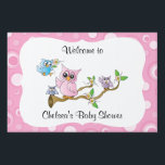 """Pink Baby Owl 