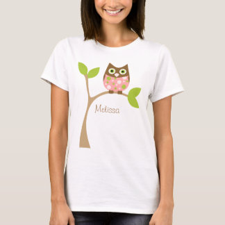 Pink Baby Owl T-Shirt