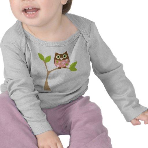 Pink Baby Owl Tees