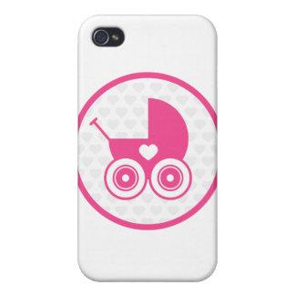Pink Baby Pram iphone 4 Case