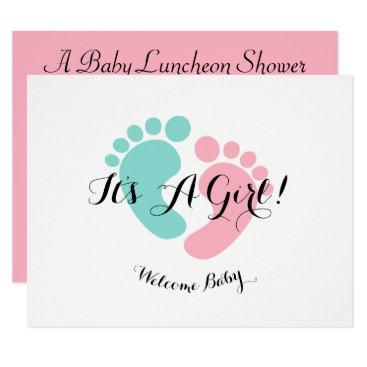 Pink Baby Reveal Baby Shower Invitation