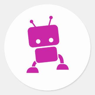Pink Baby Robot Sticker