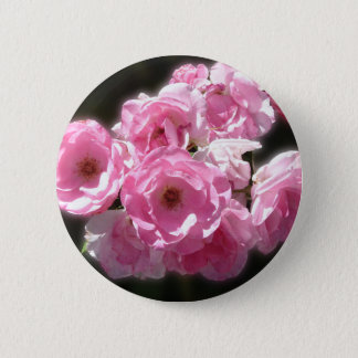Pink Baby Roses Button