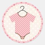 Pink Baby Seals Round Stickers