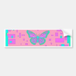 Pink Baby Shower Blue Butterflies by Sharles Bumper Sticker