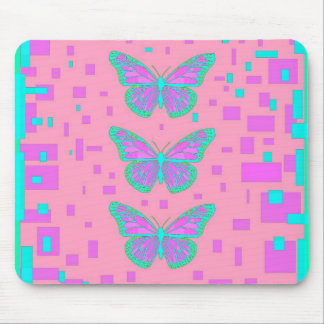Pink Baby Shower Blue Butterflies by Sharles Mouse Pad