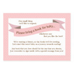 Pink Baby Shower Book Insert Request Card for Girl Business Card Templates