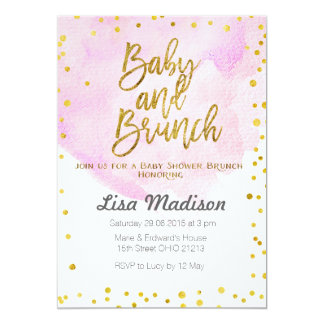 Superior Pink Baby Shower Brunch Invitation