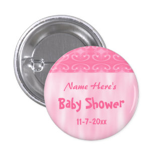 Pink Baby Shower Button
