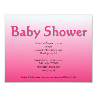pink; baby shower card