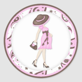 Pink Baby Shower Cupcake Toppers Stickers