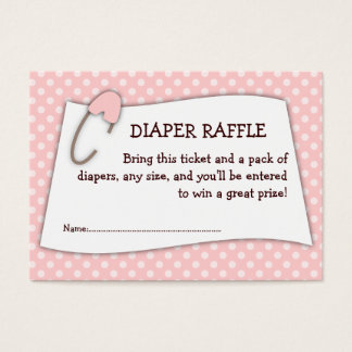 Pink Baby Shower Diaper Raffle Ticket Insert