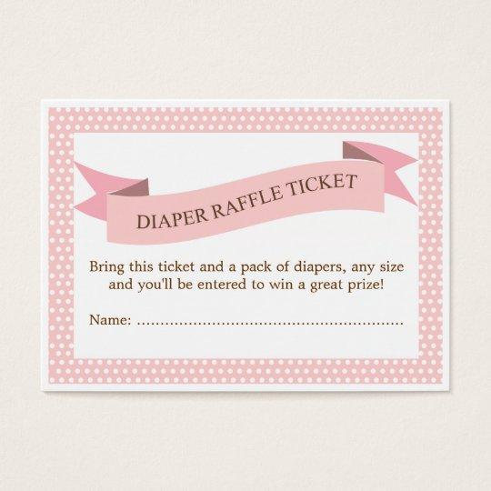 pink baby shower diaper raffle ticket insert zazzle