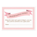 Pink Baby Shower Diaper Raffle Ticket Insert Business Card Template