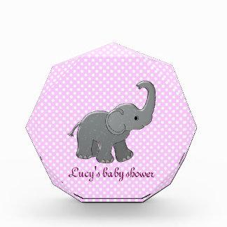 pink baby shower elephant acrylic award