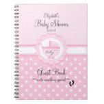 Pink-Baby Shower Guest Book- Spiral Notebooks