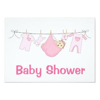 Pink Baby Shower Invitation