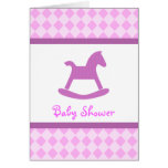 Pink Baby Shower Invitation Card